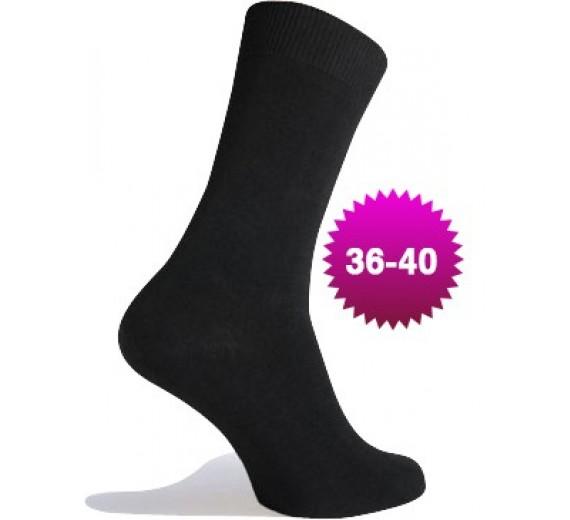 Billige Damesokker - 40 Par - One-size Str. 36-40 - Sorte