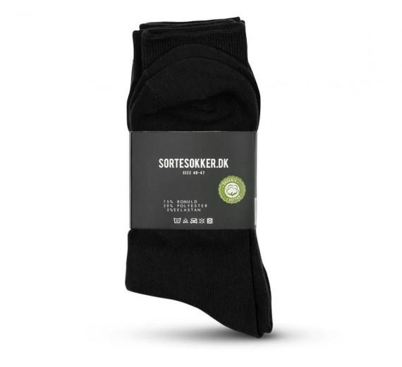 Lækre sorte sokker i blød bomuld