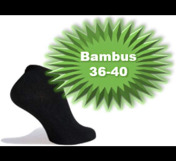 Bambus Ankelstrømper (Korte Strømper) Sort - Str. 36-40