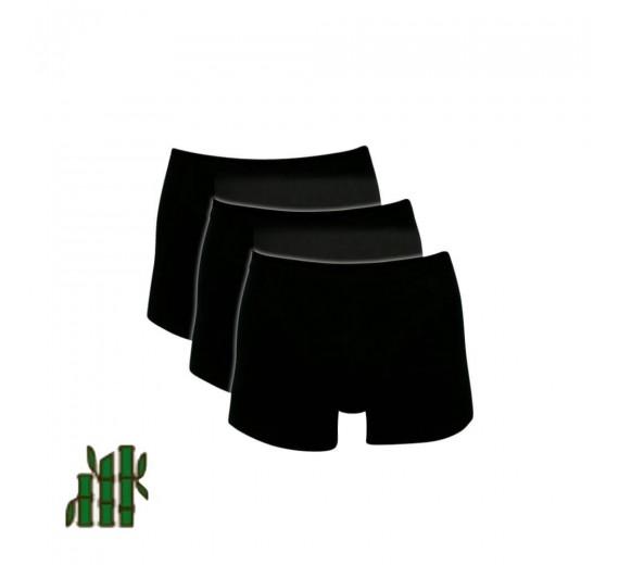 Sorte Bambus Trunks / Boxershorts - Str. 4XL