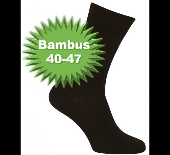 Sorte Bambussokker Størrelse 40-47