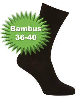 Sorte Bambussokker Størrelse 36-40